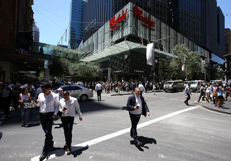 Pictured: Pedestrians outside of Westfield Sydney. Image: Getty