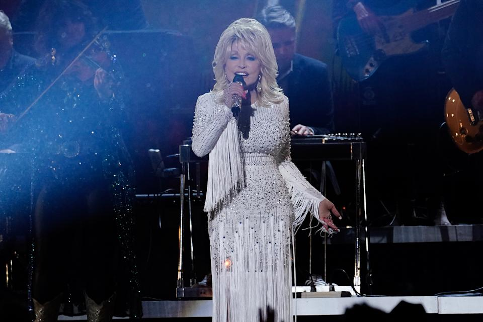 Country music legend Dolly Parton is among the performers MC Grindah admires. (Mickey Bernal/WireImage)