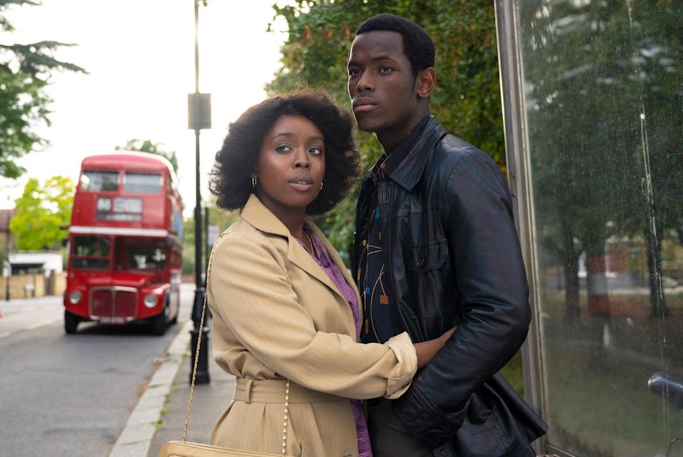 SMALL AXE, from left: Micheal Ward, Amarah-Jae St. Aubyn, Lovers Rock', (Season 1, ep. 102, aired Nov. 27, 2020). photo: Parisa Taghizedeh / Amazon / Courtesy Everett Collection