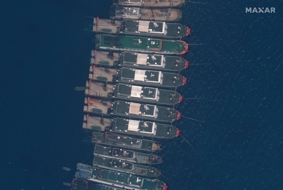 Another satellite image of a Chinese vessel in the South China Sea.