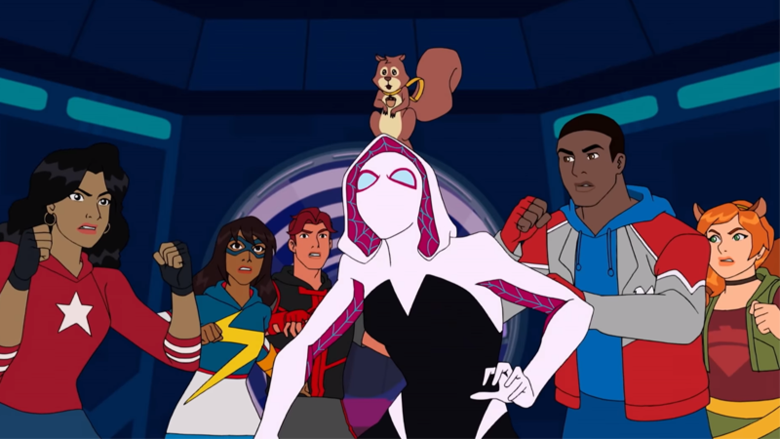 Gwen Stacy as Ghost Spider in Marvel Rising. (Marvel Animation)