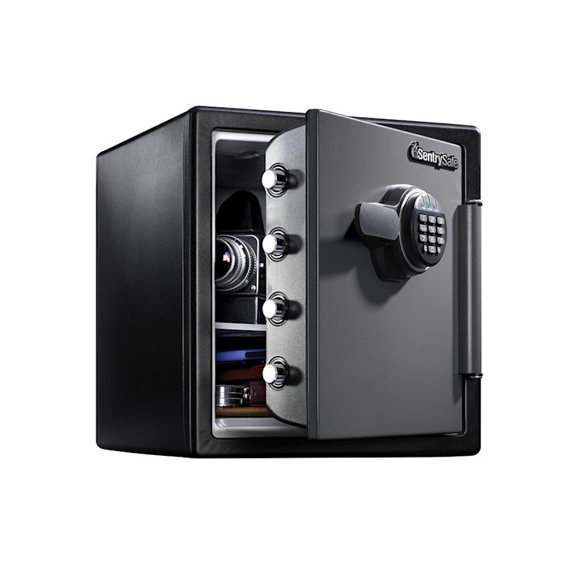 SentrySafe Fire-Resistant Safe and Waterproof Safe with Digital Keypad. (Photo: Walmart)