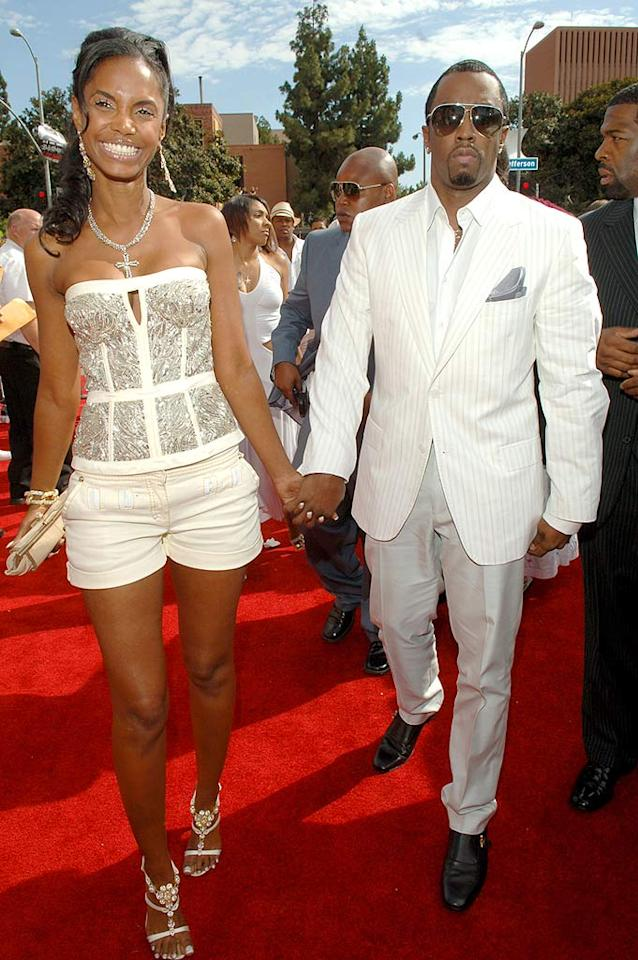 "Although she had just given birth to their twin daughters in December 2006, Kim Porter decided it was time to dump Sean ""Diddy"" Combs, her on-again/off-again boyfriend of 10 years. The couple also have a nine-year-old son together named Christian. Lester Cohen/<a href=""http://www.wireimage.com"" target=""new"">WireImage.com</a> - June 27, 2006"