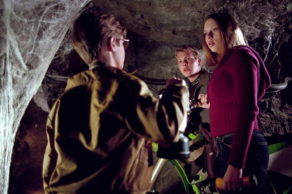 <p>This is technically a comedy horror film, but giant spiders (hence, the title) are pretty scary. You know what's not scary? Scarlett's hair parting down the middle and Matt Czuchry's (Logan from <em>Gilmore Girls</em>) sweet, sweet face. </p>