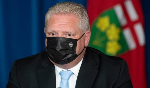 It has been more than a month since Premier Doug Ford held a COVID-19 briefing and took questions from the media. (Frank Gunn/The Canadian Press - image credit)