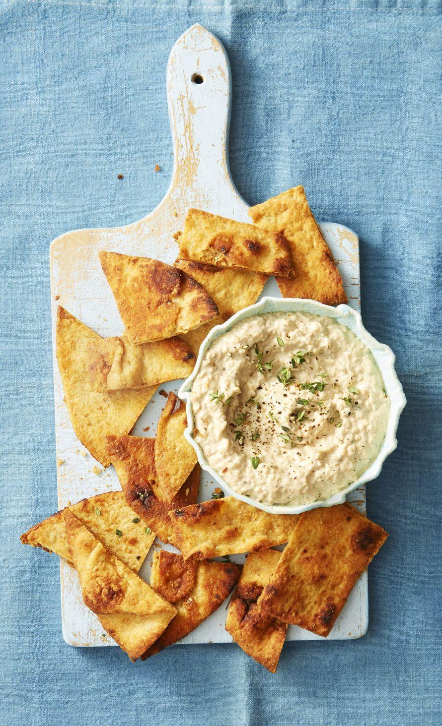 """<p>Onion dip's already a sure-fire crowd pleaser. Step up your hostess game by serving it with oven-roasted flatbreads that hold their own. </p><p><em><a href=""""https://www.goodhousekeeping.com/food-recipes/a38843/naan-chips-recipe/"""" rel=""""nofollow noopener"""" target=""""_blank"""" data-ylk=""""slk:Get the recipe for Naan Chips »"""" class=""""link rapid-noclick-resp"""">Get the recipe for Naan Chips »</a></em></p><p><span class=""""redactor-invisible-space""""><em><a href=""""https://www.goodhousekeeping.com/food-recipes/a38842/grilled-onion-dip-recipe/"""" rel=""""nofollow noopener"""" target=""""_blank"""" data-ylk=""""slk:Get the recipe for Grilled Onion Dip »"""" class=""""link rapid-noclick-resp"""">Get the recipe for Grilled Onion Dip »</a></em><br></span></p>"""