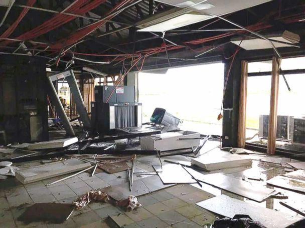 PHOTO: Tuguegarao Airport is damaged due to Typhoon Mangkhut, Tuguegarao City, Philippines, on Sept. 15, 2018, in this image obtained from social media. (Dept. of Transportation via Reuters)