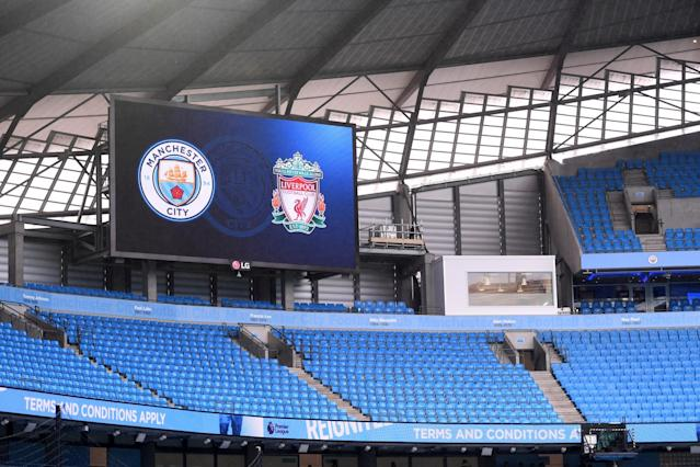 <p>Manchester City prepare to take on Liverpool at the Etihad </p>