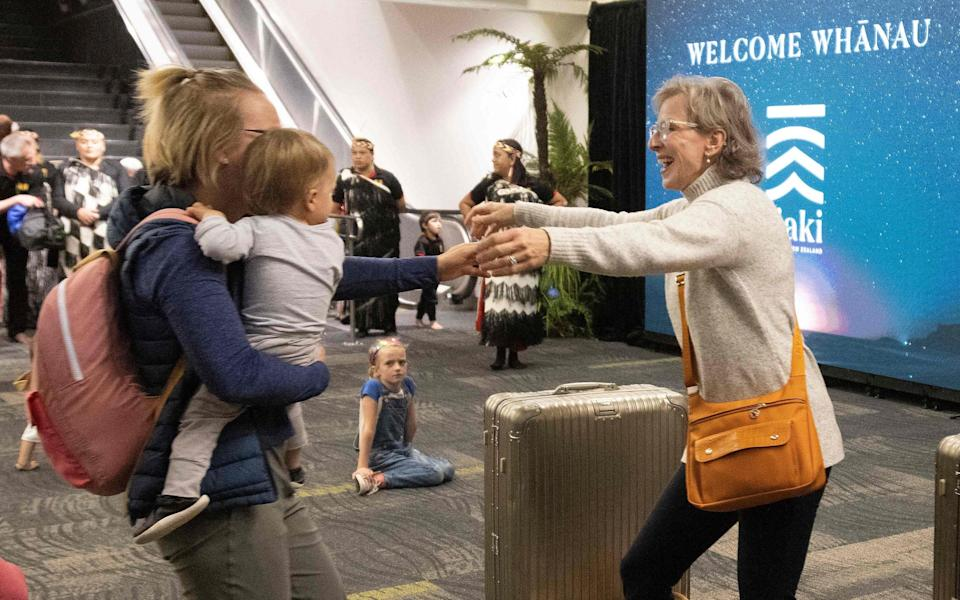 Families were reunited this week as the Aus-NZ bubble opened - Getty