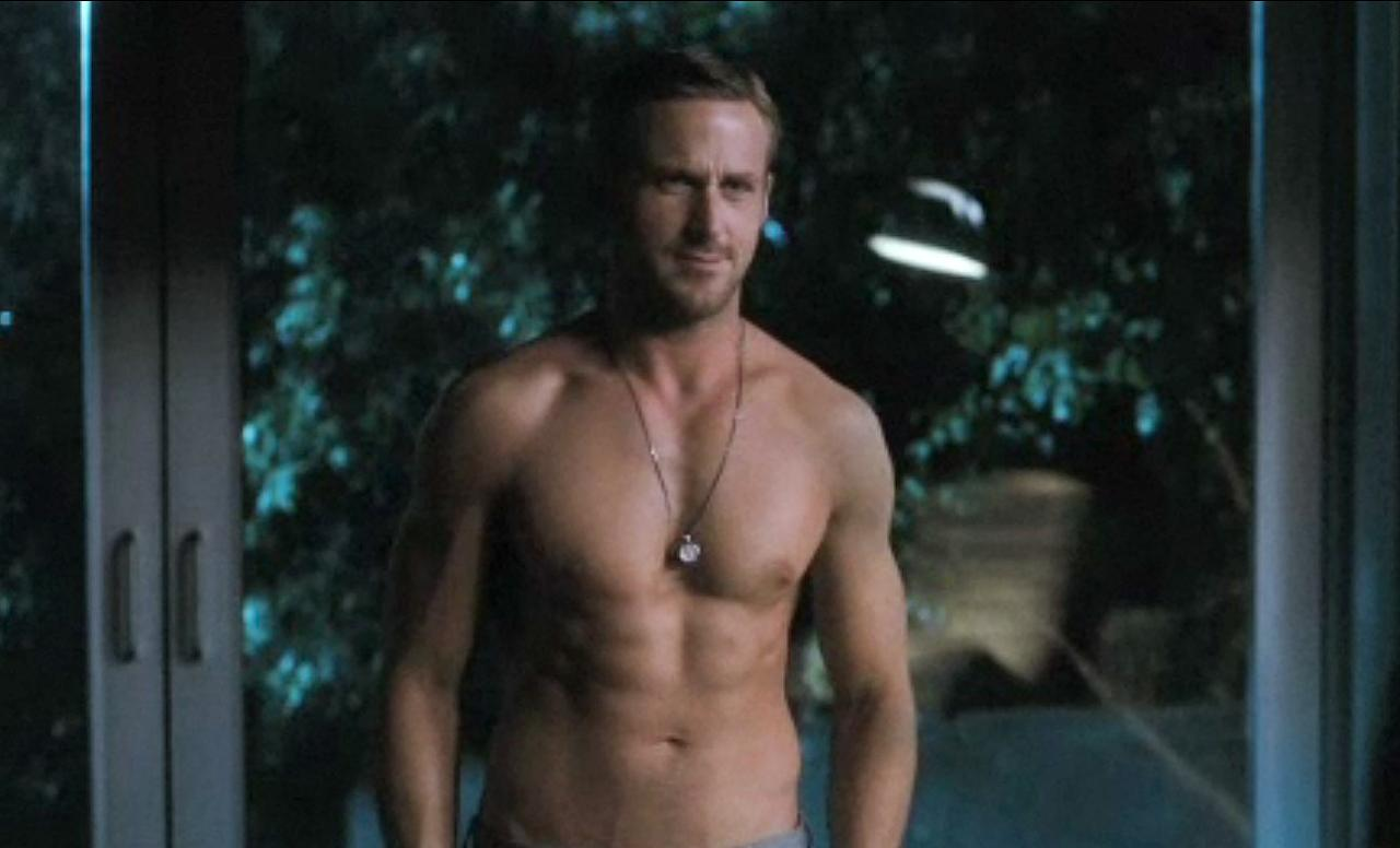 "Ryan Gosling, <a href=""http://movies.yahoo.com/movie/crazy-stupid-love/"">""Crazy Stupid Love""</a>: Gosling's confident man-whore looks great in suits but even better in his birthday suit. It's no wonder he makes Emma Stone's character fall crazy stupid in love when he peels off his shirt. ""Seriously?"" she says in amazement. ""It's like you're Photoshopped."""