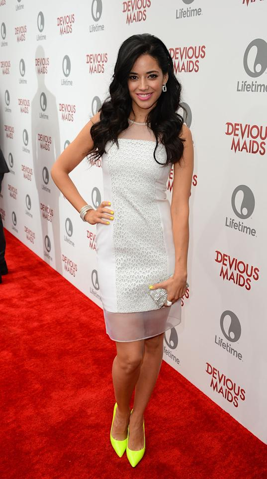 PACIFIC PALISADES, CA - JUNE 17: Actress Edy Ganem attends the premiere of Lifetime Original Series 'Devious Maids' at Bel-Air Bay Club on June 17, 2013 in Pacific Palisades, California. (Photo by Mark Davis/Getty Images)