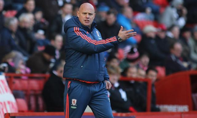 "<span class=""element-image__caption"">Steve Agnew came across well during his first press conference as Middlesbrough's caretaker manager.</span> <span class=""element-image__credit"">Photograph: Rex/Shutterstock</span>"
