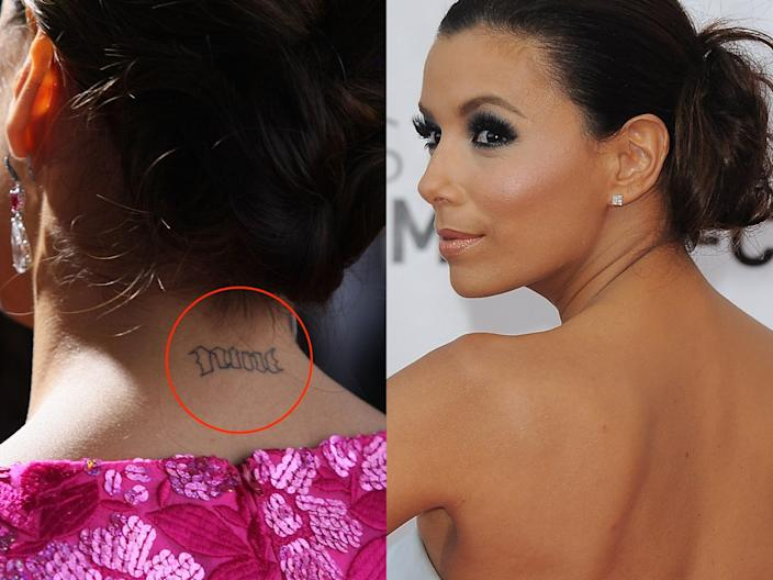 eva longoria tattoos skitch