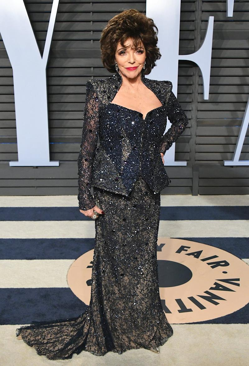 Joan Collins 'Unhurt' but 'Very Shaken' After Fire Breaks Out at Her London Apartment