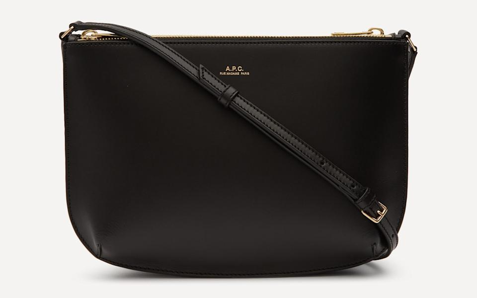 A.P.C Sarah Leather Cross-Body Bag