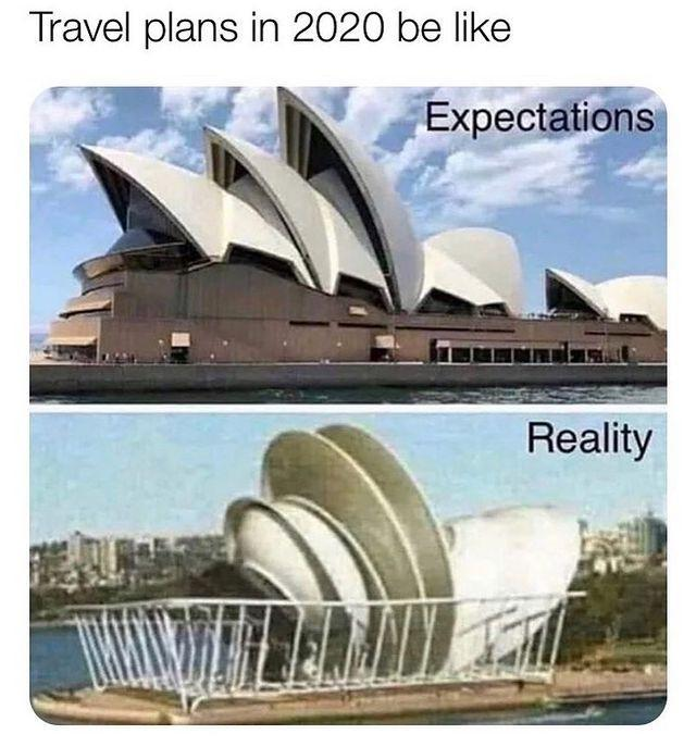 "<p>Travel in 2020</p><p><a href=""https://www.instagram.com/p/B_rXAoWJEM8/"" rel=""nofollow noopener"" target=""_blank"" data-ylk=""slk:See the original post on Instagram"" class=""link rapid-noclick-resp"">See the original post on Instagram</a></p>"