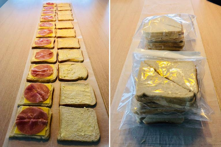 "<span>Make and freeze sandwiches for the week or fortnight ahead. </span>Source: Supplied/<a href=""http://instagram.com/peninapetersen"" rel=""nofollow noopener"" target=""_blank"" data-ylk=""slk:Penina Petersen"" class=""link rapid-noclick-resp""><span>Penina Petersen</span></a>"