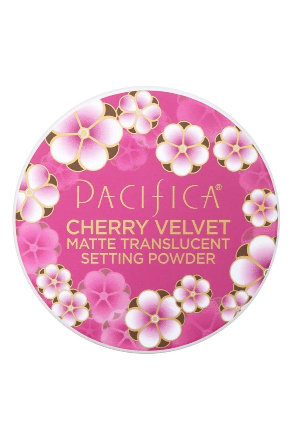 """<p><strong>Pacifica</strong></p><p>ulta.com</p><p><strong>$12.00</strong></p><p><a href=""""https://go.redirectingat.com?id=74968X1596630&url=https%3A%2F%2Fwww.ulta.com%2Fcherry-velvet-matte-setting-powder%3FproductId%3Dpimprod2003538&sref=https%3A%2F%2Fwww.cosmopolitan.com%2Fstyle-beauty%2Fbeauty%2Fg32729898%2Fbest-drugstore-setting-powder%2F"""" rel=""""nofollow noopener"""" target=""""_blank"""" data-ylk=""""slk:Shop Now"""" class=""""link rapid-noclick-resp"""">Shop Now</a></p><p>IMO, you should be using a setting <a href=""""https://www.cosmopolitan.com/style-beauty/beauty/g26289172/best-powder-face-foundation/"""" rel=""""nofollow noopener"""" target=""""_blank"""" data-ylk=""""slk:powder"""" class=""""link rapid-noclick-resp"""">powder</a> even if your skin doesn't get super oily. This formula won't settle into your lines or leave you with dry patches, and thanks to moisturizing ingredients like <strong>coconut water, it also helps hydrate dry, flaky skin.</strong><br></p>"""