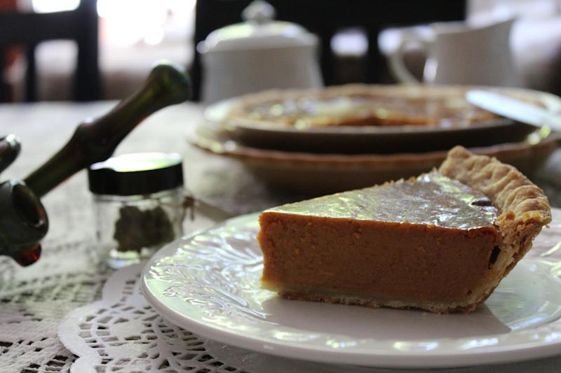 Vegan Herjuana Pumpkin Pie by Jessica Catalano. (Photo: Courtesy of Jessica Catalano)