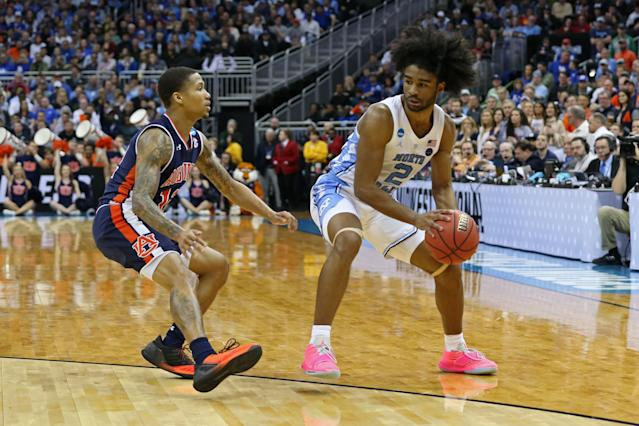 North Carolina's Coby White was an excellent shooter in college. (Getty Images)