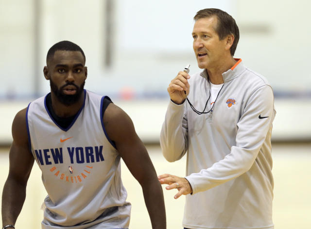 Knicks coach Jeff Hornacek is holding out hope his defense can improve with inexperience. (AP)