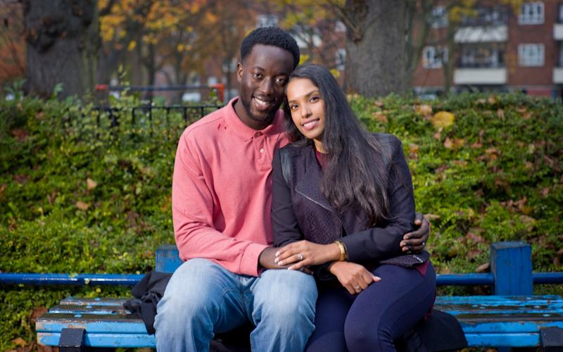 Roshini and Nicholas Agyemang are on the verge of buying their first home together in south London - David Rose