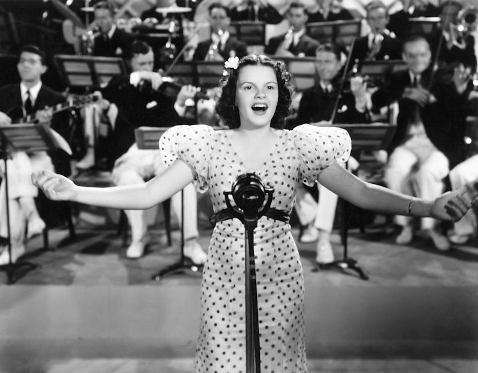 """The actress in a scene from the 1936 film """"Pigskin Parade."""""""