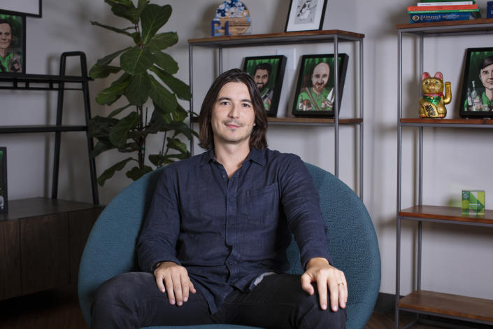 MENLO PARK, CALIFORNIA - JULY 15: Vlad Tenev, CEO and Co-Founder, Robinhood in his office on July 15, 2021 in Menlo Park, California. (Photo by Kimberly White/Getty Images for Robinhood)