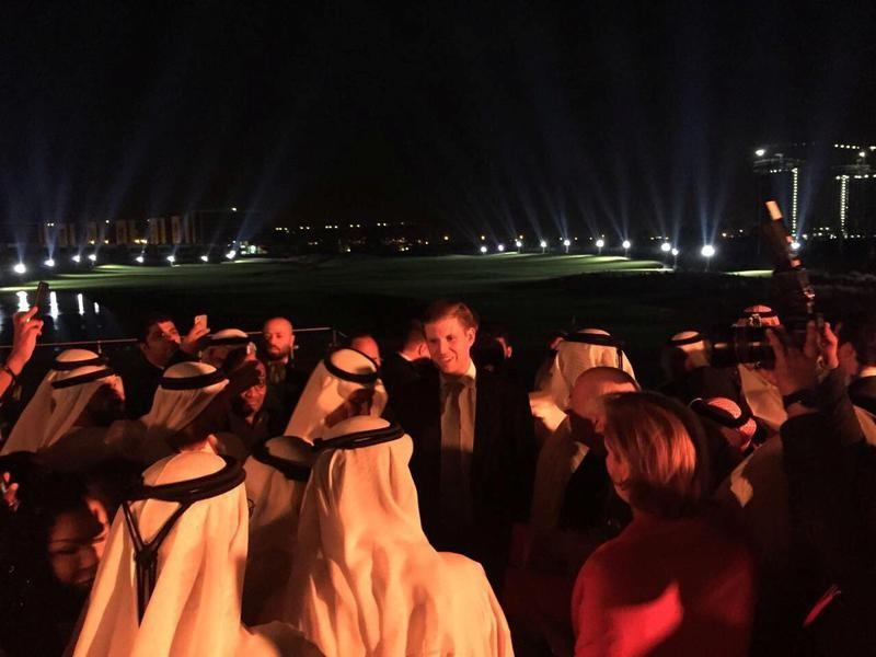 U.S. President Donald Trump's son Eric Trump attends the opening ceremony of the Trump International Golf Club in Dubai
