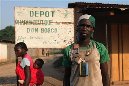 A member of a Christian self-defence militia, called anti-balaka, poses for a picture in the capital Bangui