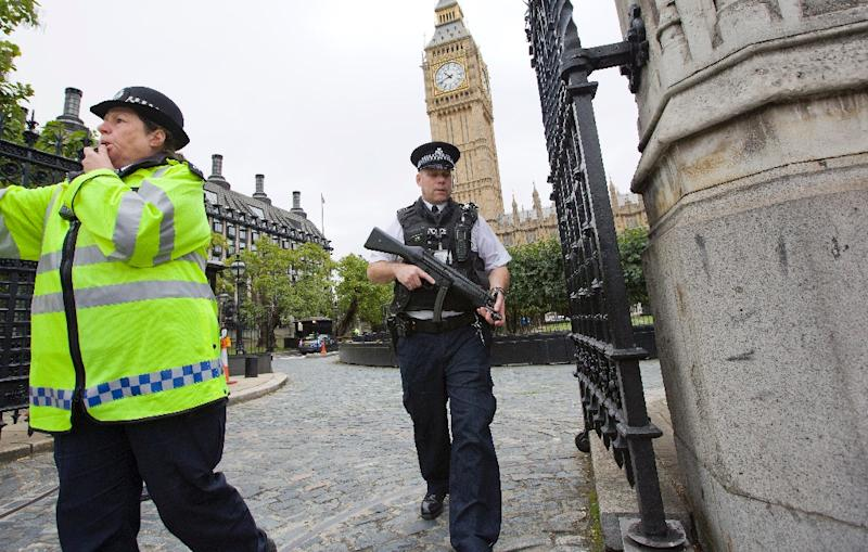 Police say they have foiled several jihadist attacks in Britain, while hundreds of Britons are believed to have travelled to Syria and Iraq to join IS (AFP Photo/Justin Tallis)