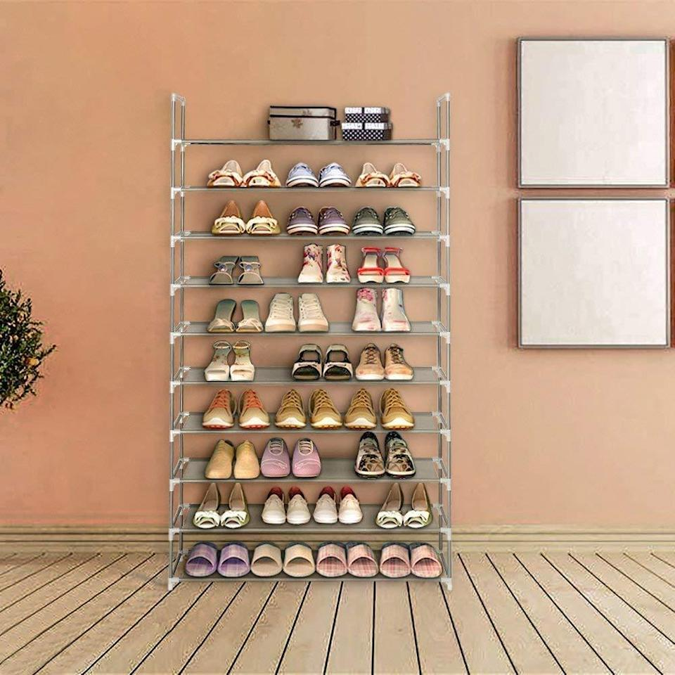 Gentrify the foyer with some affordable high-rise housing for your footwear. (Photo: Amazon)