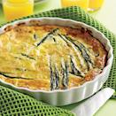 """<p>There's <a href=""""https://www.myrecipes.com/t/vegetables/asparagus"""" rel=""""nofollow noopener"""" target=""""_blank"""" data-ylk=""""slk:no vegetable that says spring more than asparagus"""" class=""""link rapid-noclick-resp"""">no vegetable that says spring more than asparagus</a>, which is harvested from February to June. (Don't be fooled by the hothouse variety that's available year-round-it's less flavorful and more expensive.) The distinctive sweetness of asparagus makes it a good complement to rice, pasta, eggs and fish. And you can't beat it simply steamed and served with melted butter and a squeeze of lemon.</p>"""