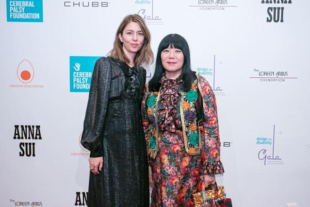 Sofia Coppola and Anna Sui at the event. (Photo: Jeffrey Holmes)