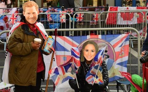 'Prince Harry' and 'Meghan Markle' in Windsor - Credit: PAUL GROVER for The Telegraph