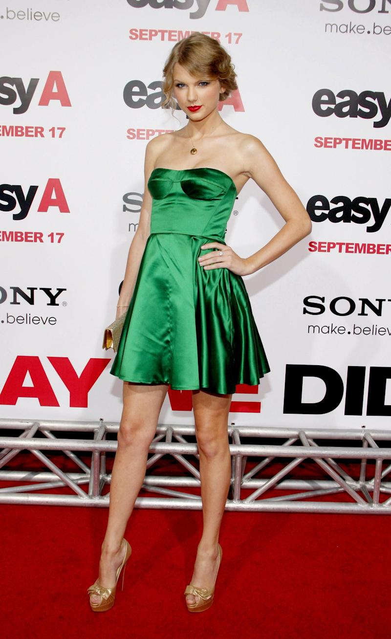 "At the Los Angeles premiere of ""Easy A"" held at the Grauman's Chinese Theatre, Sept. 13, 2010."