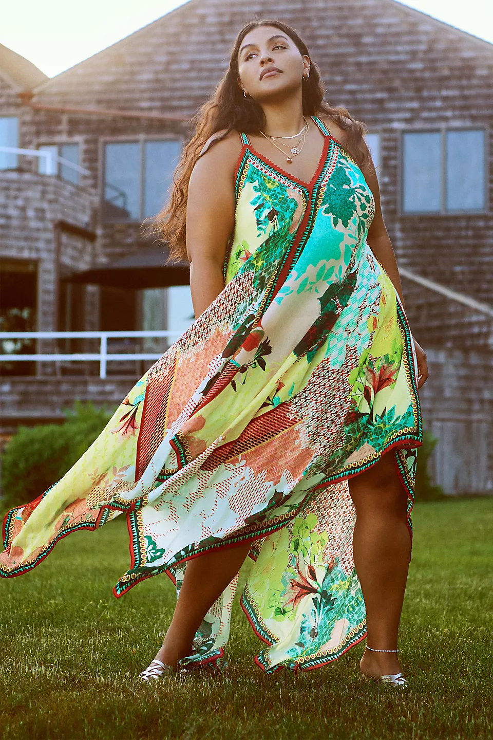 """<br><br><strong>Bhanuni by Jyoti</strong> Floral Contrast Maxi Dress, $, available at <a href=""""https://go.skimresources.com/?id=30283X879131&url=https%3A%2F%2Fwww.anthropologie.com%2Fshop%2Ffloral-contrast-maxi-dress%3Fcolor%3D038%26type%3DPLUS%26quantity%3D1"""" rel=""""nofollow noopener"""" target=""""_blank"""" data-ylk=""""slk:Anthropologie"""" class=""""link rapid-noclick-resp"""">Anthropologie</a>"""