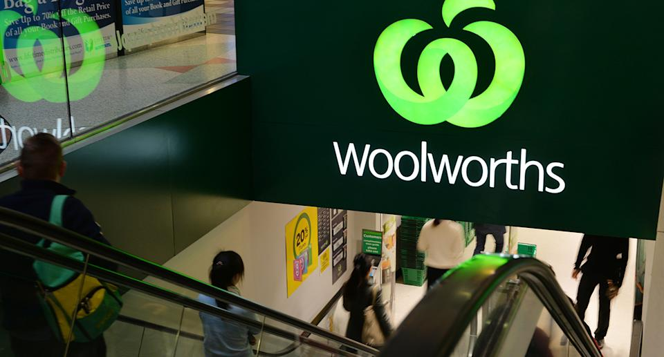Front of Woolworths store.