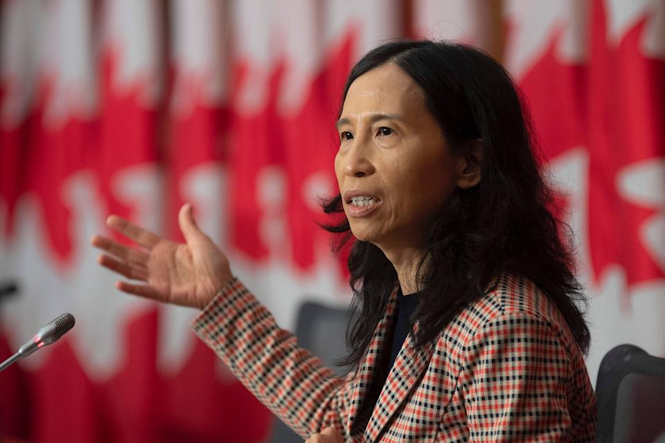 Canada's Chief Public Health Officer Theresa Tam responds to a question during a news conference on Oct. 20, 2020 in Ottawa.  (Photo: Adrian Wyld/The Canadian Press)