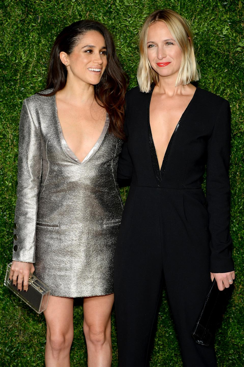 Meghan Markle and Misah Nonoo at the 12th annual CFDA/Vogue Fashion Fund Awards at Spring Studios on Nov. 2, 2015 in New York City. (Getty Images)