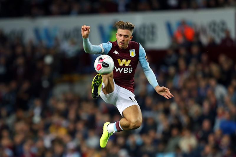 Jack Grealish was a rare bright spot in a dull match. (Photo by Richard Heathcote/Getty Images)