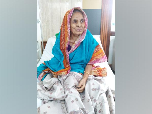 Basanti Patra, the 93-year-old woman who recovers from COVID-19 in Bhubaneswar, Odisha.