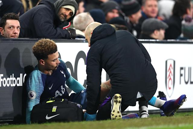 Dele Alli faces several weeks on the sideline after injuring his hamstring against Fulham