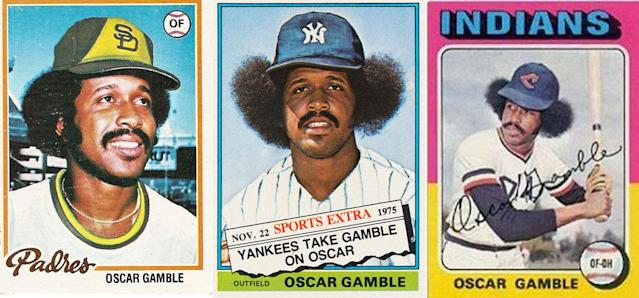 Oscar Gamble's baseball cards were always a good find.