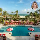 """<p><strong>Location:</strong> Miami, Florida</p> <p>Madonna enjoyed a stay at the fanciful <a href=""""http://www.faena.com/miami-beach/"""" rel=""""nofollow noopener"""" target=""""_blank"""" data-ylk=""""slk:Faena Hotel Miami Beach"""" class=""""link rapid-noclick-resp"""">Faena Hotel Miami Beach</a> while visiting the city for her Raising Malawi benefit. Arianna Grande, Dave Chapelle and Leonardo DiCaprio were in attendence at the Faena Forum event space, part of the newly formed Faena District Miami Beach.</p>"""