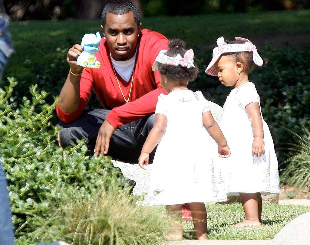 """For Sean Combs' twins D'lila and Jessie, it's daddy, not Diddy! LAX/<a href=""""http://www.x17online.com"""" target=""""new"""">X17 Online</a> - May 29, 2008"""
