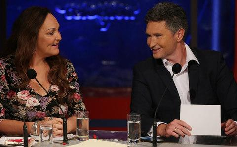 Kate Langbroek and Dave Hughes - Credit: Splash News / Alamy Stock Photo