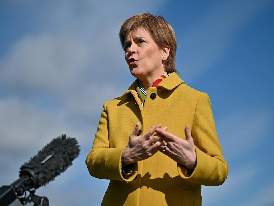 <p>Nicola Sturgeon is backing companies that want to implement a four-day week</p> (PA)
