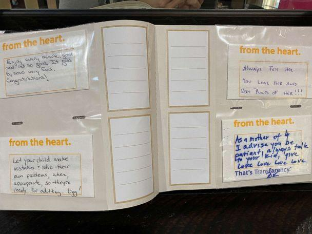 PHOTO: These notes were among the ones Dustin and Caren Moore received on their flight home with their newly-adopted daughter. (Dustin Moore)