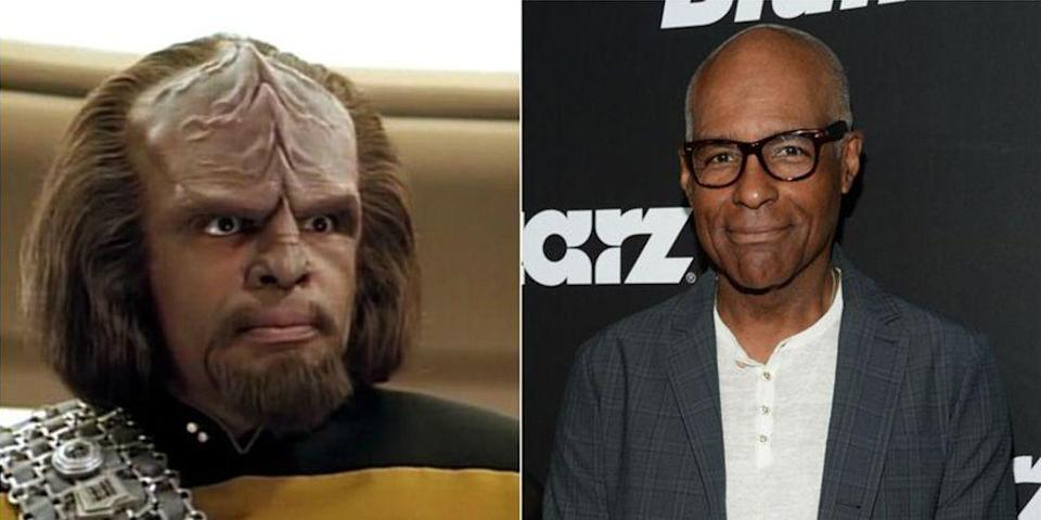 <p>One of the wisest characters from <em>Star Trek: Deep Space Nine</em>, Worf, is a pretty serious guy. Actor Michael Dorn not only knows how to crack a smile on the red carpet, but he's also quite the handsome guy without all that makeup and fake hair.</p>